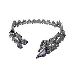 ASKILL 項圈- 黑色鍍銠純銀,鑲嵌紫晶建議售價144,500
