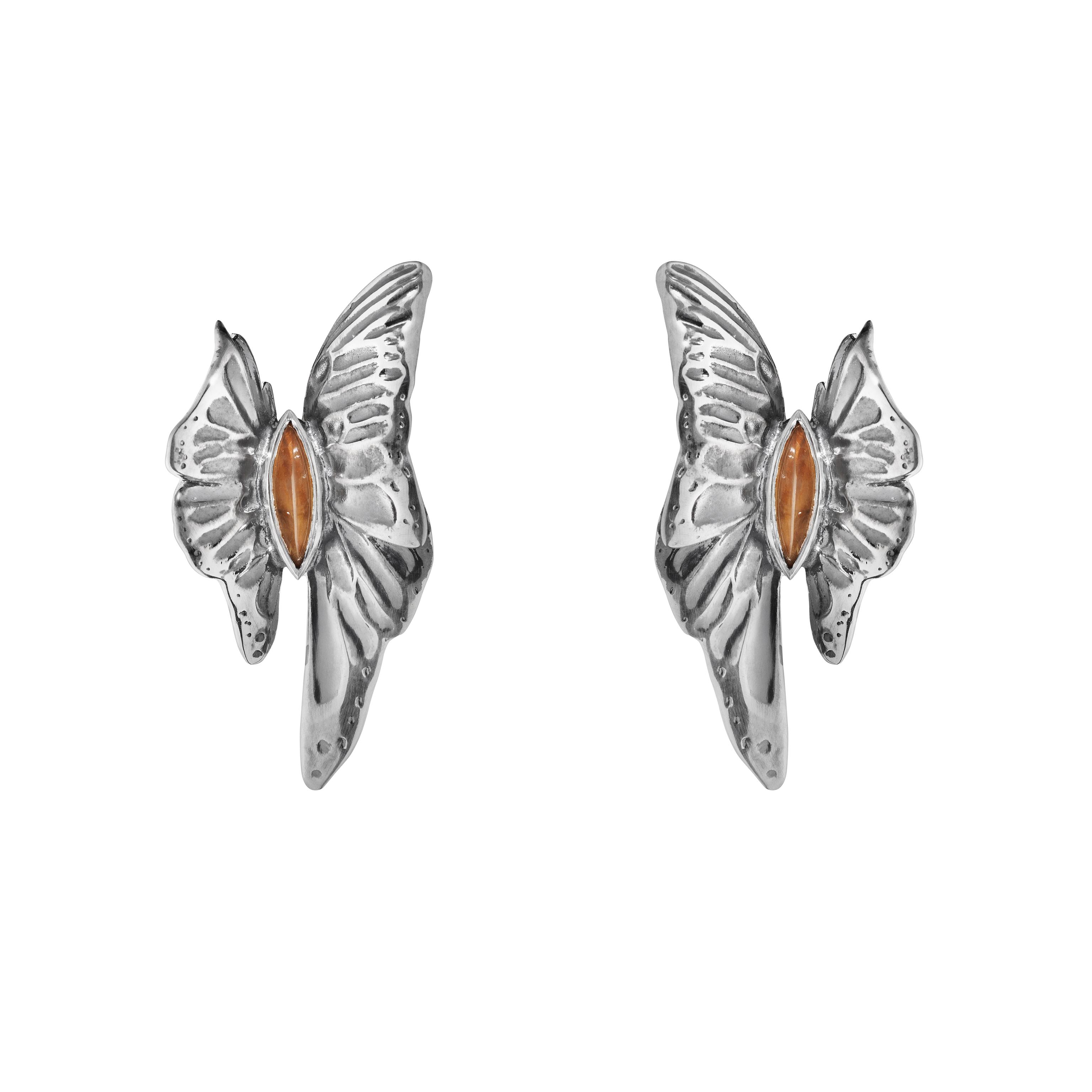 ASKILL 耳環 - 氧化純銀,鑲嵌黃晶建議售價22,400