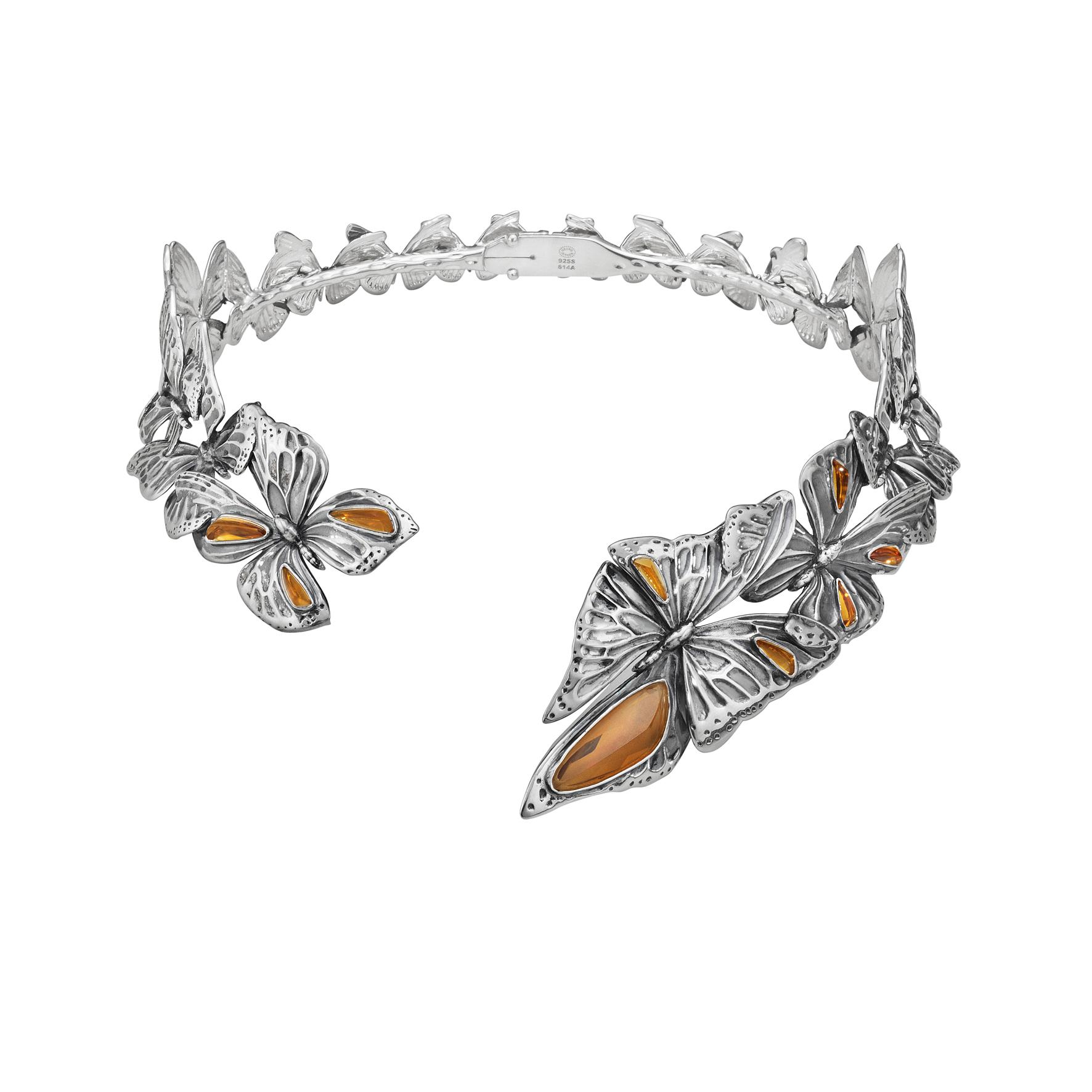 ASKILL 項圈 - 氧化純銀,鑲嵌黃晶建議售價144,500