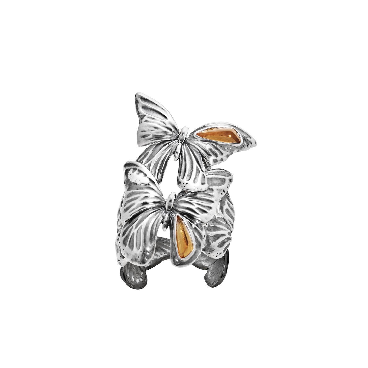 ASKILL 戒指 - 氧化純銀,鑲嵌黃晶建議售價22,400
