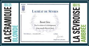 """La microbrasserie Rive Droite Rive Gauche """"Lauréat de Sèvres"""""""