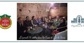 Avec les Amis de la Bières aux Caves du Roy