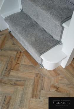 Stair Runner & Luxury Vinyl Tile