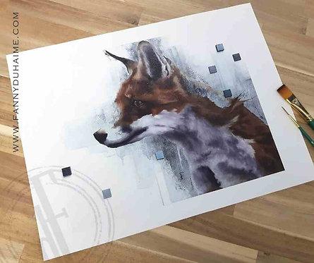 "Impression Artistique ""Lovely Fox"""