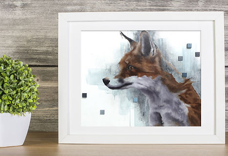 impression oeuvres d'art renard wall art