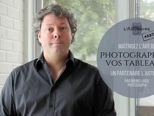 |Partenaire| Maîtrisez l'art de photographier vos tableaux!