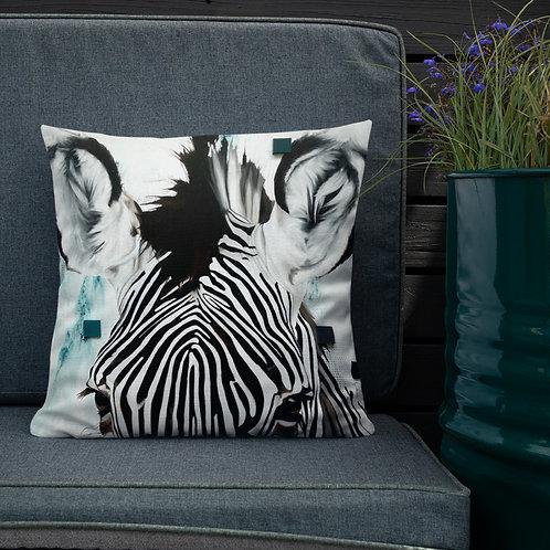 """Housse de coussin Zebra 18""""x18"""""""