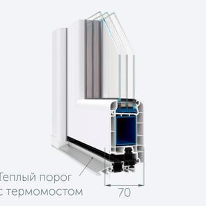 Дверные створки с монтажной шириной 70 и 60 мм.