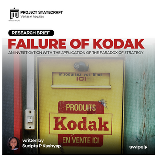 Failure of Kodak: An investigation with the application of the paradox of strategy