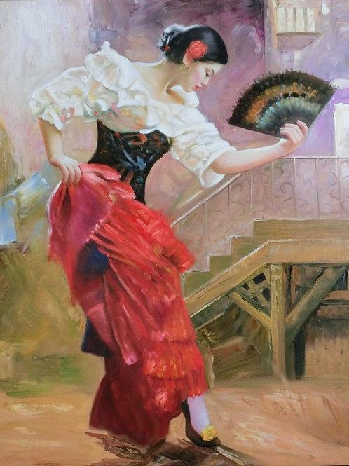 Flamenco Dancer 70cm x 90cm