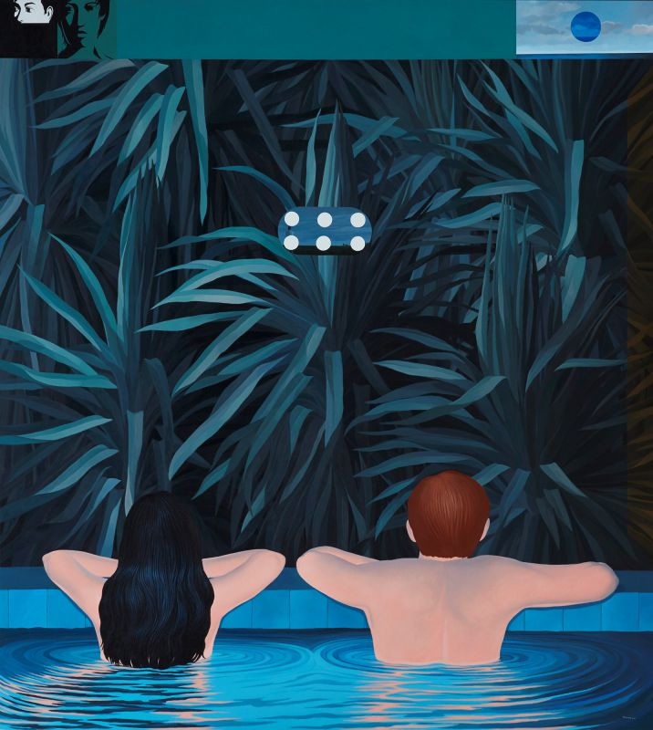 Knakorn Kachacheewa. Pool , 2012. Acrylic on Canvas. 180 x 200cm.jpg