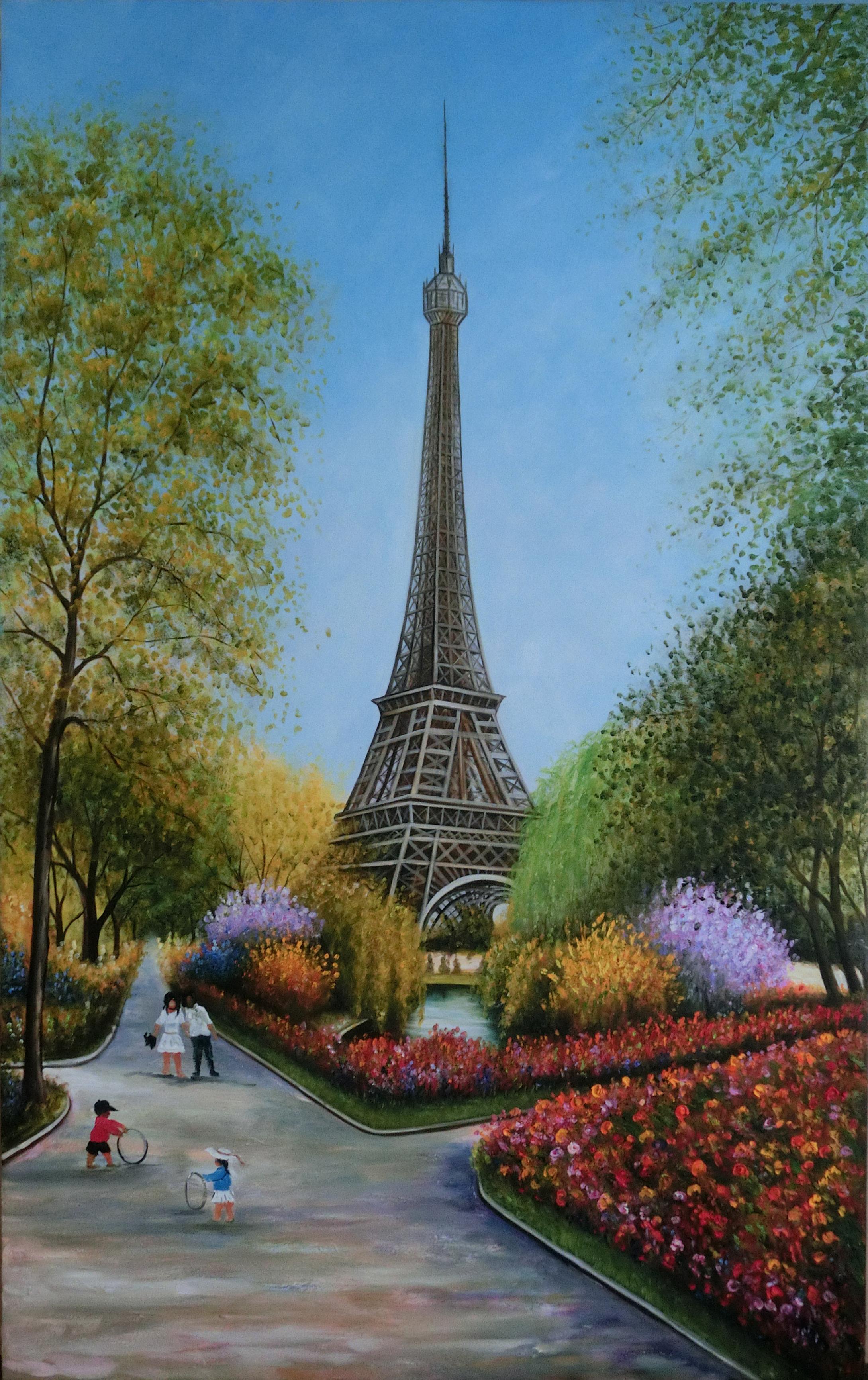 Eiffel in Spring 100cmx160cm.jpg