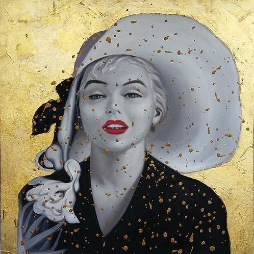 Marilyn Monroe (玛丽莲·梦露). 70cm x 70cm.