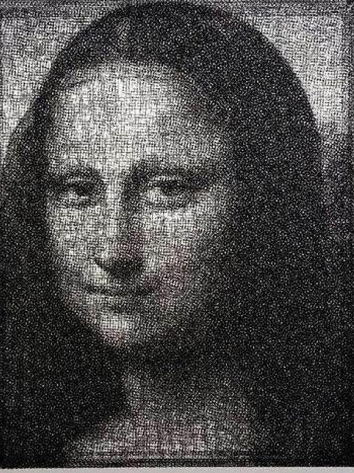Mona Lisa (蒙娜丽莎). 80.5 x 7.5 x 102.5cm.