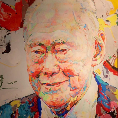 Lee Kuan Yew (李光耀). 80 x 80cm.
