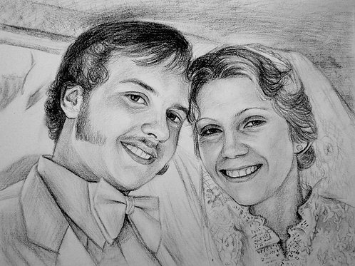 """Portrait Drawing Painting Services 24"""" x 36"""""""