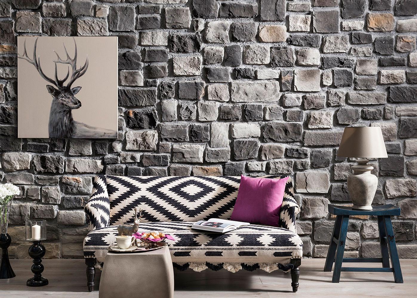 steinwand wohnzimmer mnchen, wohnzimmer steinwand, Design ideen