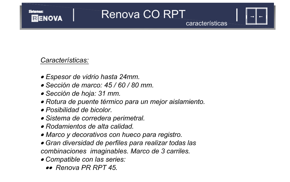 Renova CO RPT Elevable 100