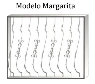 Reja modelo Margarita