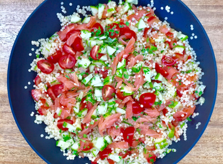 RECIPE - PEARLCOUSCOUS SALAD WITH SALMON