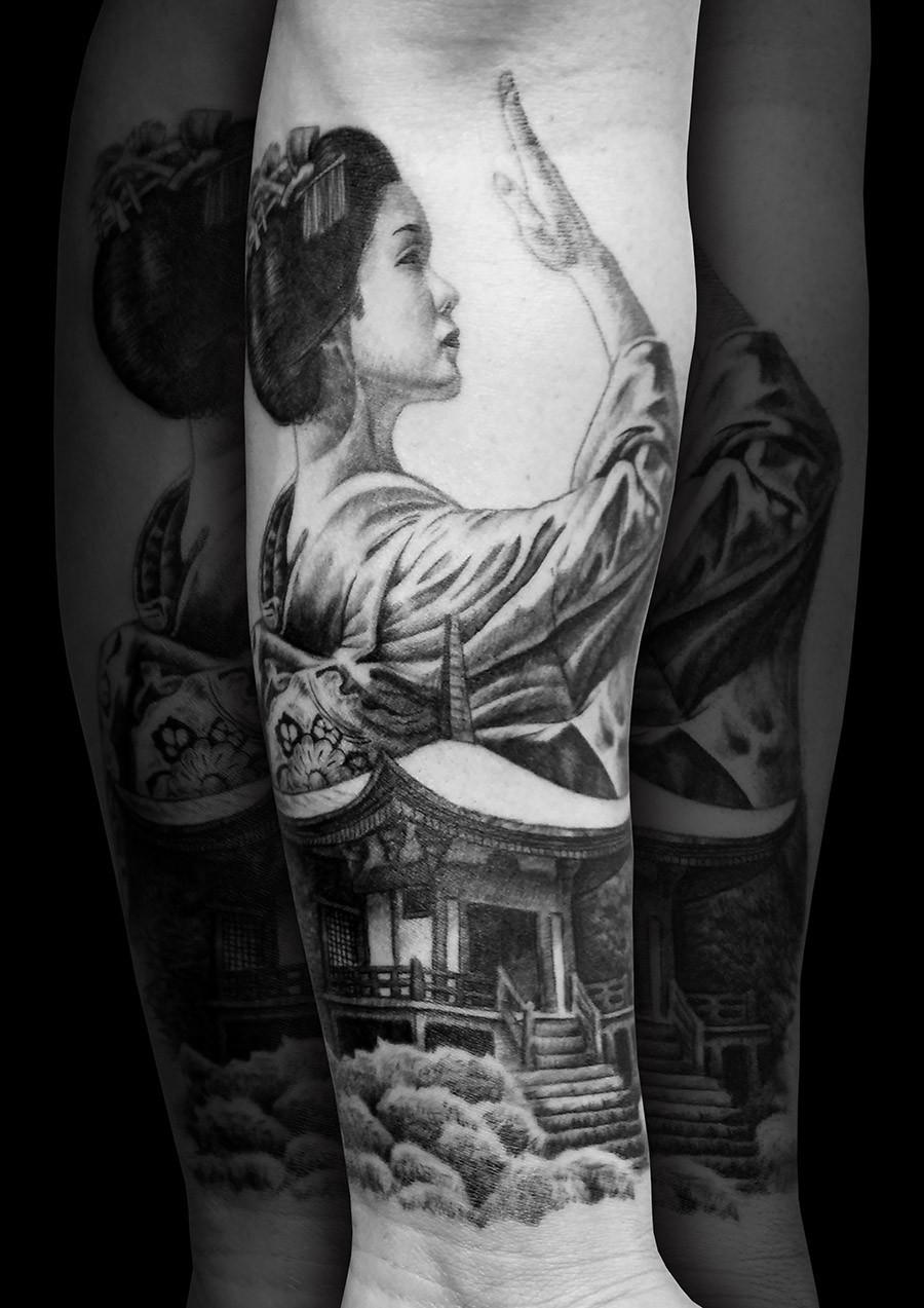 Geisha tattoo from spain