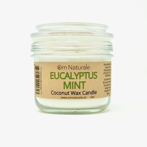 Coconut Wax Candle Eucalyptus Mint