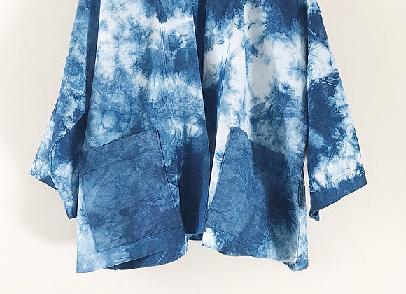 Cropped Kimono Jacket - Abstract