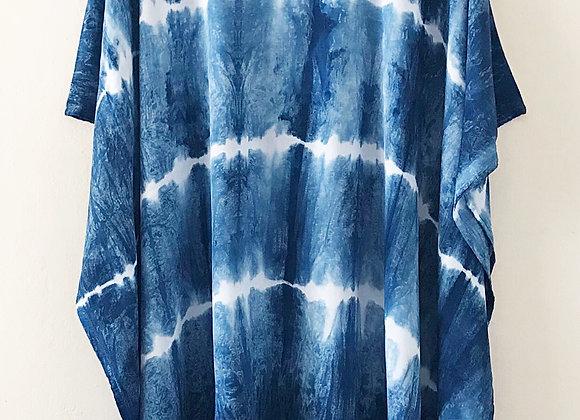 Shibori poncho - Stripes