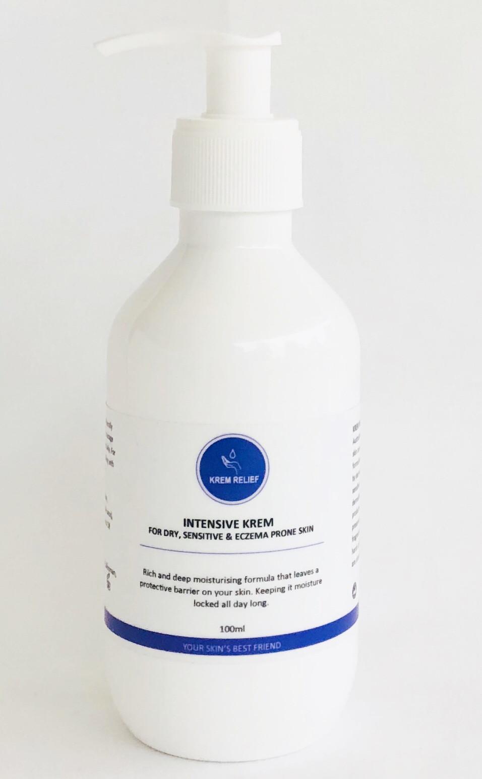 Bottle of intensive krem by krem relief