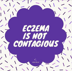 infographic saying eczema is not contagious