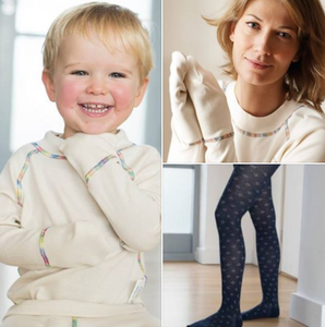 Child and woman in eczema friendly clothing