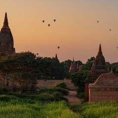 Bagan Sonnenaufgang