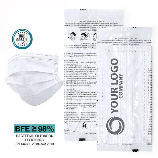 Hygiene -Masken im LogoPack (VE: 500 Stück)