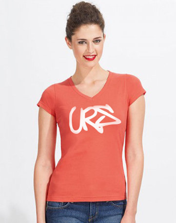Ladies V-Neck-T-Shirt Moon