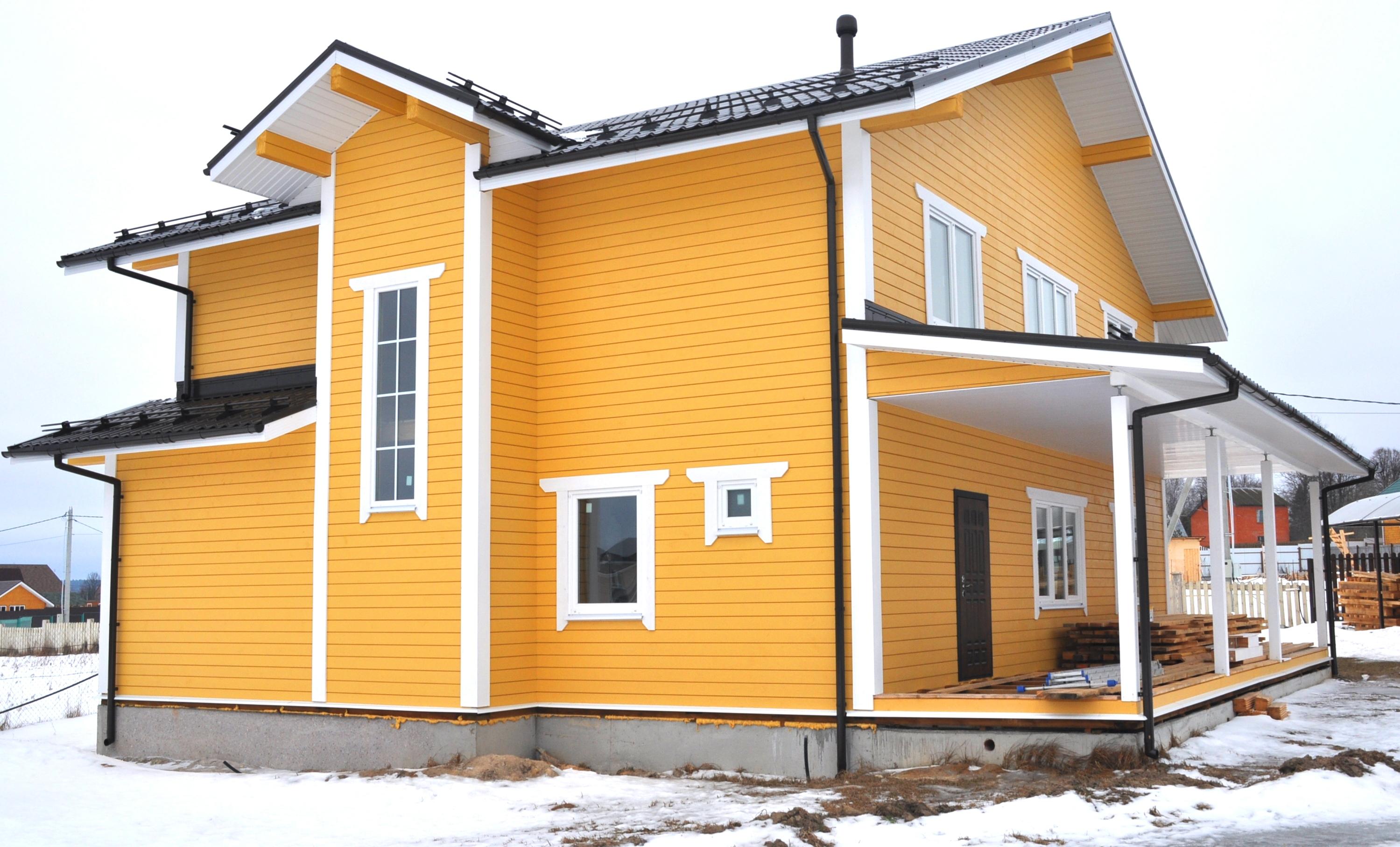 Деревянный дом из сухого бруса