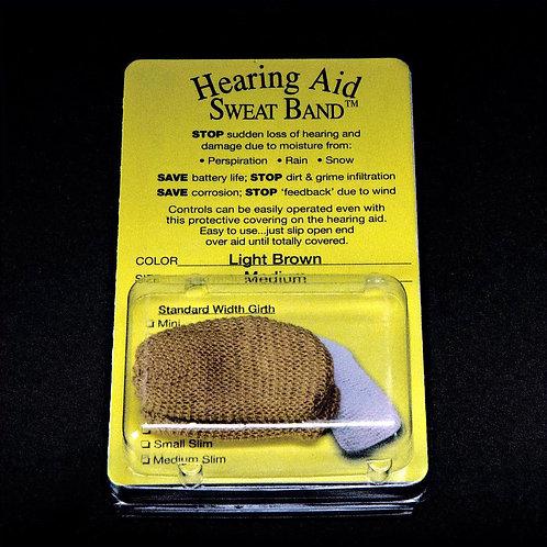 Hearing Aid Sweat Band Light Brown pair
