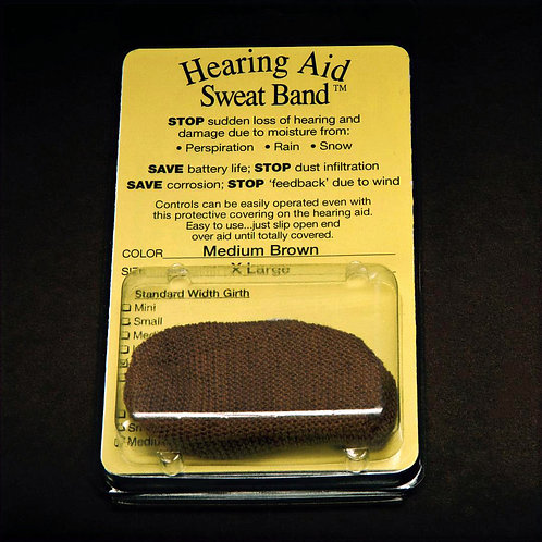 Hearing Aid Sweat Band Medium Brown pair
