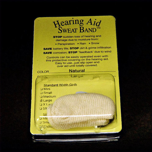 Hearing Aid Sweat Band Natural pair