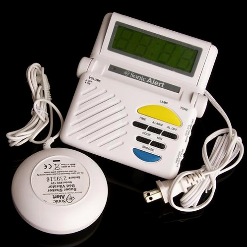 Sonic Boom Alarm Clock w/Vibrator