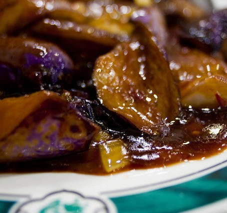 Eggplants with Olives, Sausages and Walnuts from Crete | Μελιτζάνες με Ελιές Λουκάνικα από την Κρήτη