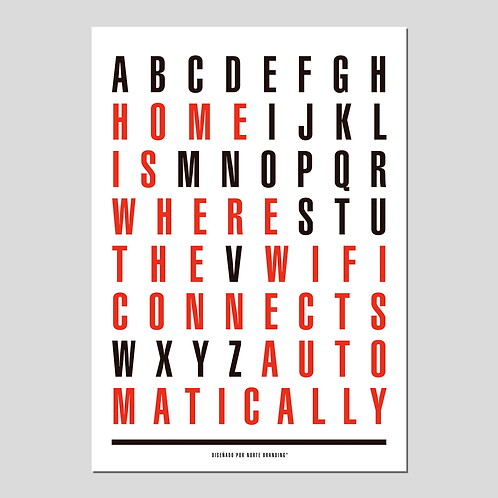"PRINT ""HOME IS WIFI"" BLANCO"