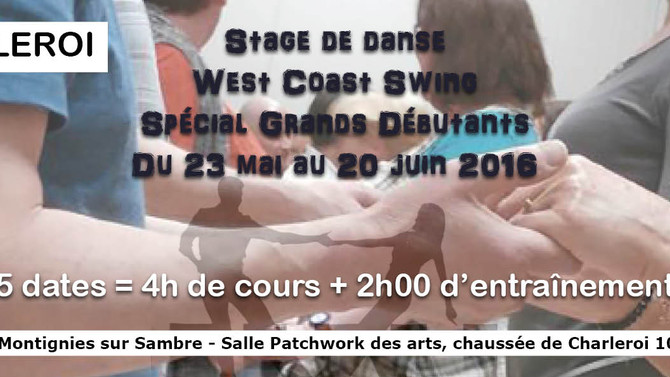 CHARLEROI Stage de West Coast Swing Grands Débutants