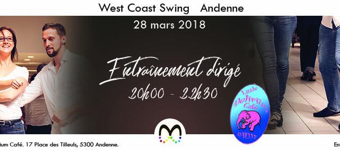 28/03 Entraînement de West Coast Swing à Andenne