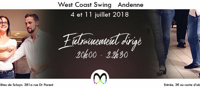 Juillet › Entraînement de West Coast Swing à Andenne
