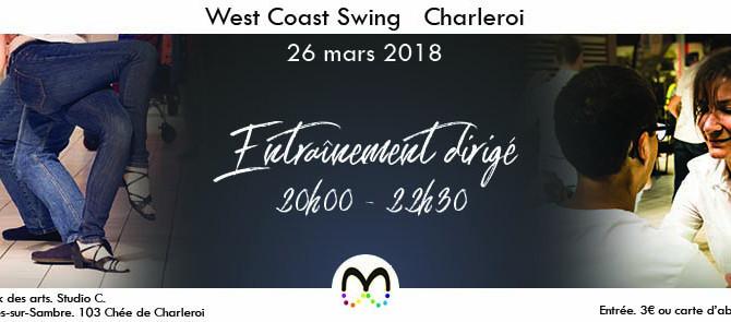 26/03 Entraînement de West Coast Swing à Charleroi