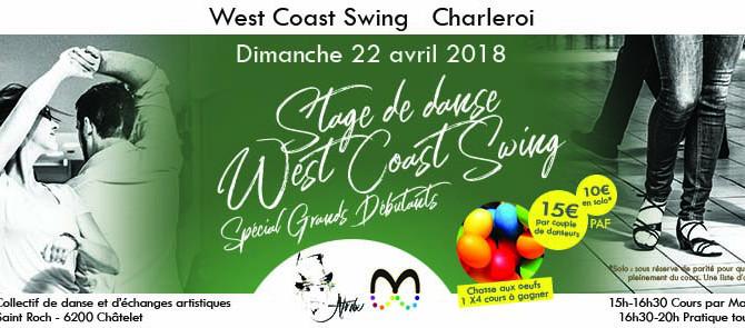 22/4 › Stage de West Coast Swing spécial Grands Débutants à Charleroi