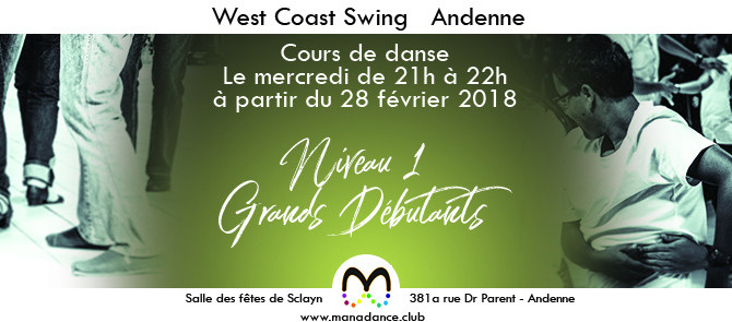 28/02 A la découverte de la danse West Coast Swing à Andenne