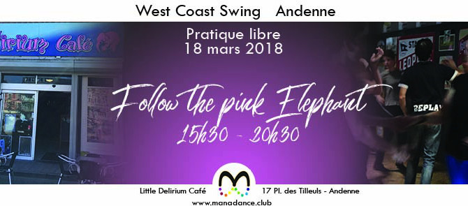 18/03 Viens danser le West Coast Swing au Little Delirium Andenne