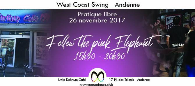 26/11 Viens danser le West Coast Swing au Little Delirium Andenne