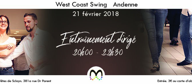 21/02 Entraînement de West Coast Swing à Andenne